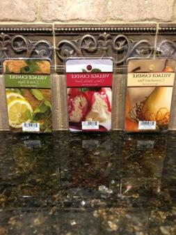 VILLAGE CANDLE FRAGRANCED WAX MELTS  - 3 DIFFERENT SCENTS