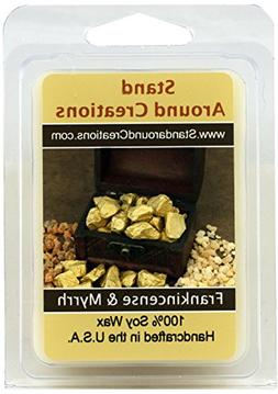 - 100% Soy Wax Melt Tart- Frankincense And Myrrh: A blend of