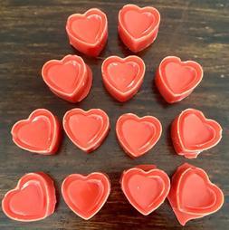 15 Pack Super Strong Scented Wax Melts Heart Shaped Tart Mel