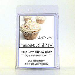 2 Vanilla Buttercream Vase Candle 2.8 oz Highly Scented Wax