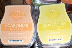 2 SCENTSY Bar Wax Melts BANANARAMA & ORANGE DREAMSICLE Tropi