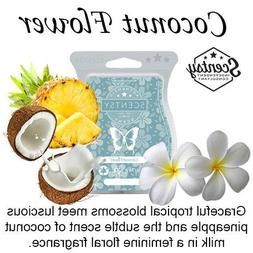2 SCENTSY Bars COCONUT FLOWER Wax Melt BEACH Scent Amazing S