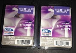 2  BETTER HOMES & GARDENS Wax Melts TROPICAL PLUMERIA PETALS