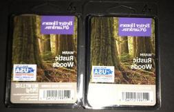2  BETTER HOMES & GARDENS Wax Melts WARM RUSTIC WOODS 2.5 Oz