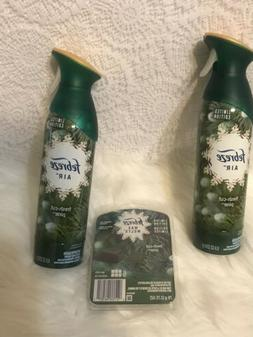 2-Febreze Fresh Cut Pine Air Freshener Spray & 1 Pack Wax Me