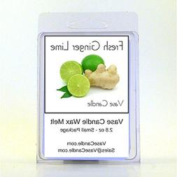 Vase Candle 2 Fresh Ginger Lime Melts | 2.8 oz Premium Highl