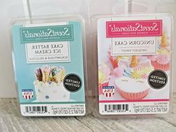 2 Lot ScentSationals Scented Wax Cubes Melts Unicorn Cake/ C