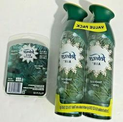 2 pack Febreze Air FRESH CUT PINE Spray Air Freshener PLUS W
