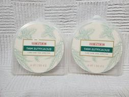 2 Packs Burts Bees EUCALYPTUS MINT Natural Soy Wax Melts 2.5