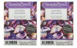 2 Packs Crystal Healing Scented Wax cubes Melts Tarts - Scen