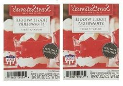 2 Packs Jiggle Wiggle Strawberry Scented Wax cubes Melts Tar