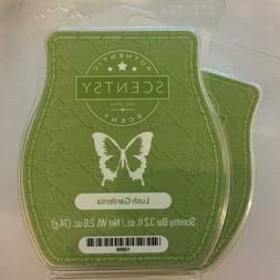 2 Pk Authentic SCENTSY Lush Gardenia Wax Bars Melts 3.2 OZ C