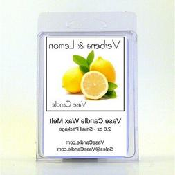 2 Verbena and Lemon Vase Candle 2.8 oz Highly Scented Wax Me