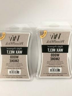2 Wood Smoke WoodWick Hourglass 3 oz Wax Melt, free USA ship