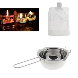 200g Clear Candle Wax + Stainless Steel Melting Pot Candle M