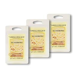 3 Pack - Happy Birthday Cake Tuscany Candle Wax Melts Fragra