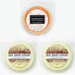 3 PACKS Bath Body Works CINNAMON CARAMEL SWIRL Fragrance Wax