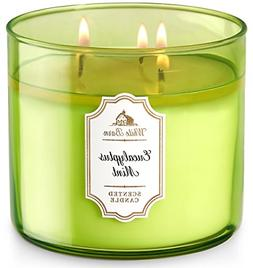 Bath & Body Works White Barn 3-Wick Candle in Eucalyptus Min