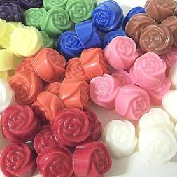 30 pc Candle Wax Melts Tarts Mini Rose Shape 8 oz Valentines