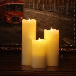 3pieces/lot 3D Wick LED <font><b>candles</b></font> velas pi