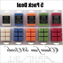 5 PACK DEAL strong scented SOY WAX MELTS 500hr burn CANDLE T