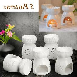 5 Types Ceramic Wax Melt Oil Burner Tea Light Candle Aromath