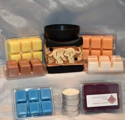 6 Packs Of Scented Soy Wax Melts, Black Ceramic Elephant War