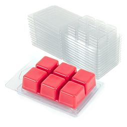 DGQ Wax Melt Molds - 100 Pack Clear Wax Molds Plastic Wax Me