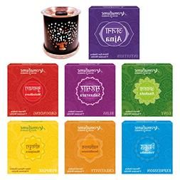 Aromafume 7 Chakra Incense Bricks Pack of 7 Fragrances  & Tr