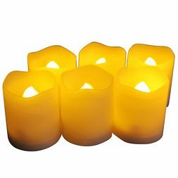 EcoGecko 87111 Set of 6 Indoor/Outdoor Votive Flameless LED