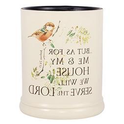 Elanze Designs As for Me and My House Joshua 24:15 Ceramic S