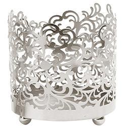 "Hosley 4.5"" High, Lace Jar Candle Sleeve, LED Tea Light Lant"
