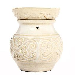 "Hosley 6"" High Cream Ceramic Electric Candle Warmer. Ideal G"