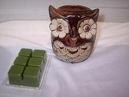 Hosley Candle Company Owl Fragrance Wax Warmer Set NIB with