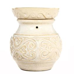 "Hosley Electric Ceramic Fragrance Warmer - CREAM 6"" High O4"