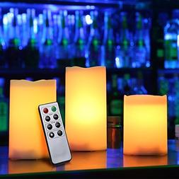 Kohree Flameless Candles Pillars LED Remote Control & Timer
