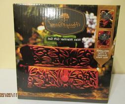 NEW Harry & David Wax Warmer Gift Set with Warm Cinnamon & A