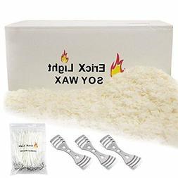Natural Soy Wax 10 Pound121℉ melt Point 120 Wicks 3 Wick C