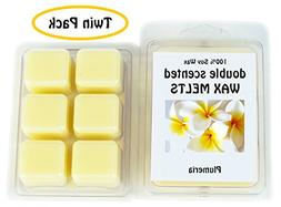 Plumeria DOUBLE SCENTED SOY WAX MELTS - WAX TARTS . Plumeria