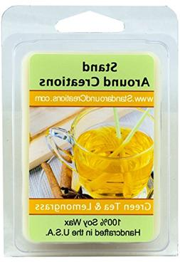 100% All Natural Soy Wax Melt Tart - Green Tea and Lemon Gra