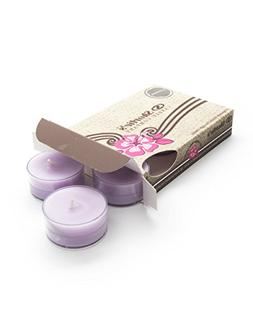 Pure English Lavender Purple Tea Light Candles 6 Pack - High