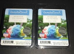 SCENTSATIONALS Scented Wax Cubes RAINBOW SHAVED ICE / 2 Pack