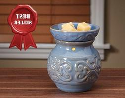 Upright Blue Ceramic Electric Warmer Ideal Gift for Wedding