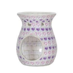 aroma lilac heart wax melt burner candle