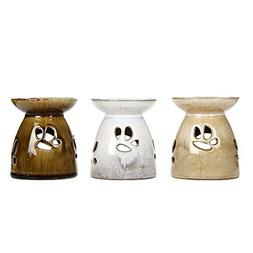 """Hosley Set of 3 Assorted Ceramic Oil Warmers - 4.3"""" High. An"""