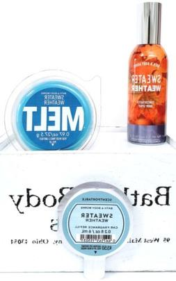 Bath & Body Works Sweater Weather Room Spray, Wax Melt & Sce