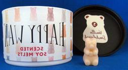 Bear Shapes Happy Wax Soy Melts 3.6 oz VANILLA SANDALWOOD  S