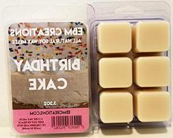 Birthday Cake - Scented All Natural Soy Wax Melts - 6 Cube C