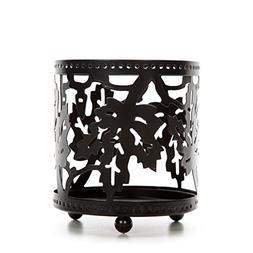 Hosley Black Maple Leaf Jar Candle Holder. Ideal Gift for We