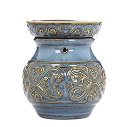 "Hosley 6"" High Blue Ceramic Electric Warmer. Ideal Gift for"